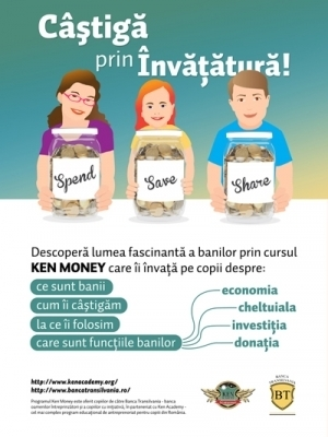 Banca Transilvania investeste in educatia financiara a copiilor, prin programul KEN Money