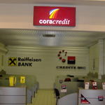 Despre cum se suporta BRD si Raiffeisen Bank la Cora
