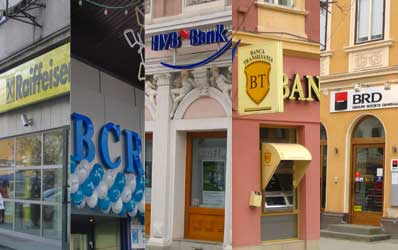 Bucurestenii au la dispozitie circa 600 de sucursale bancare