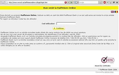 Atac informatic asupra clientilor Raiffeisen Bank