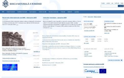 Noua prezenta BNR online: RSS, alerte, cautare, baza de date interactiva