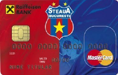 Raiffeisen Bank lanseaza un card cu echipa Steaua Bucuresti