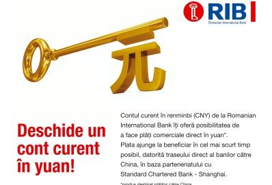 Romanian International Bank introduce tranzactiile directe din lei in yuan-i