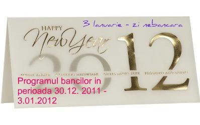 Cum faci banking pe 3 ianurie 2012. Programul celor mai importante banci