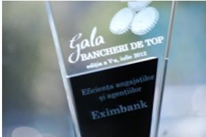 EximBank, premiata pentru eficienta angajatilor
