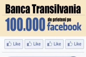 Banca Transilvania ajunge la peste 100.000 de prieteni pe Facebook